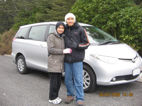 Our Rental Car to Mt. Ruapehu (Toyota Previa 2.4)